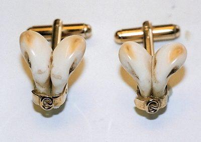 Boutons de manchettes dents de cerf