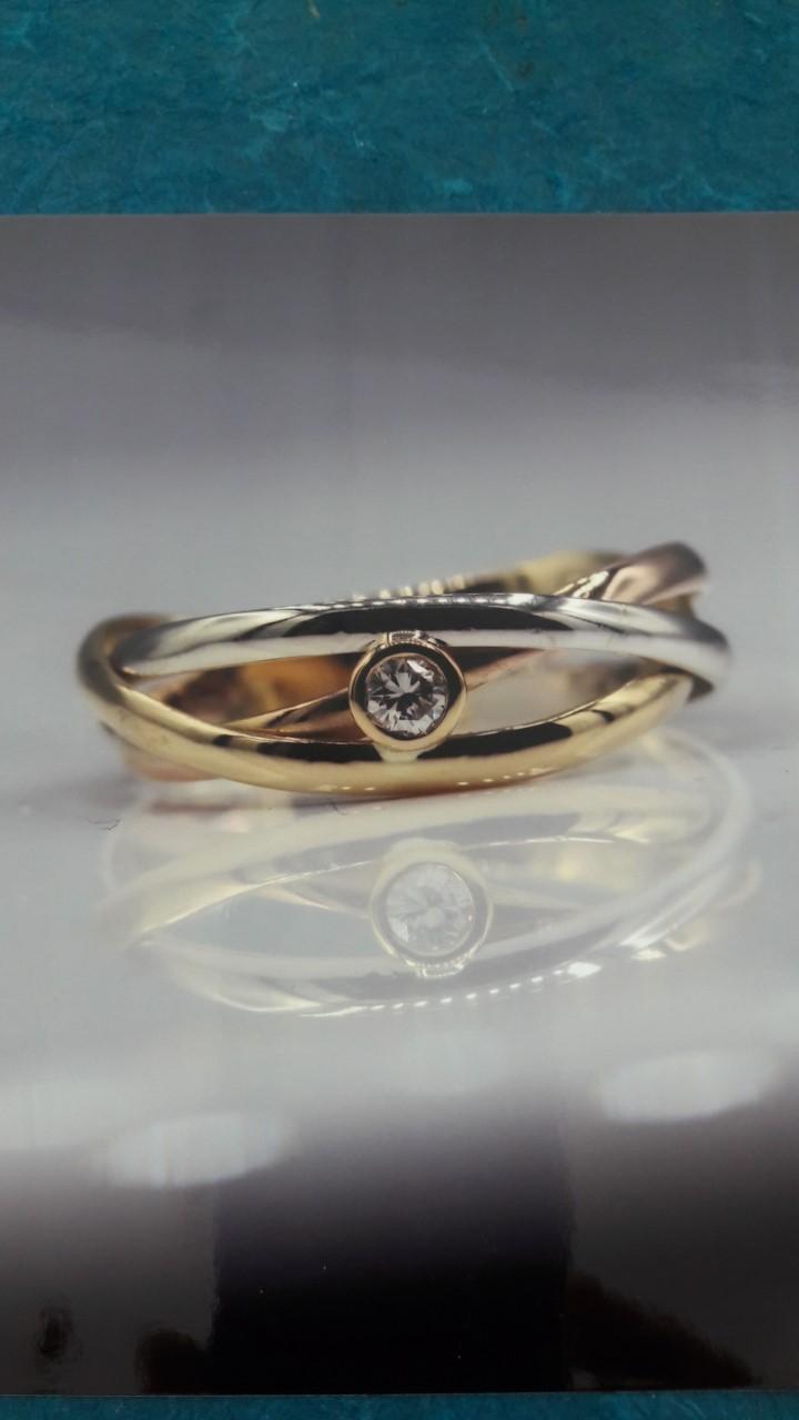 Bague 3 ors diamant