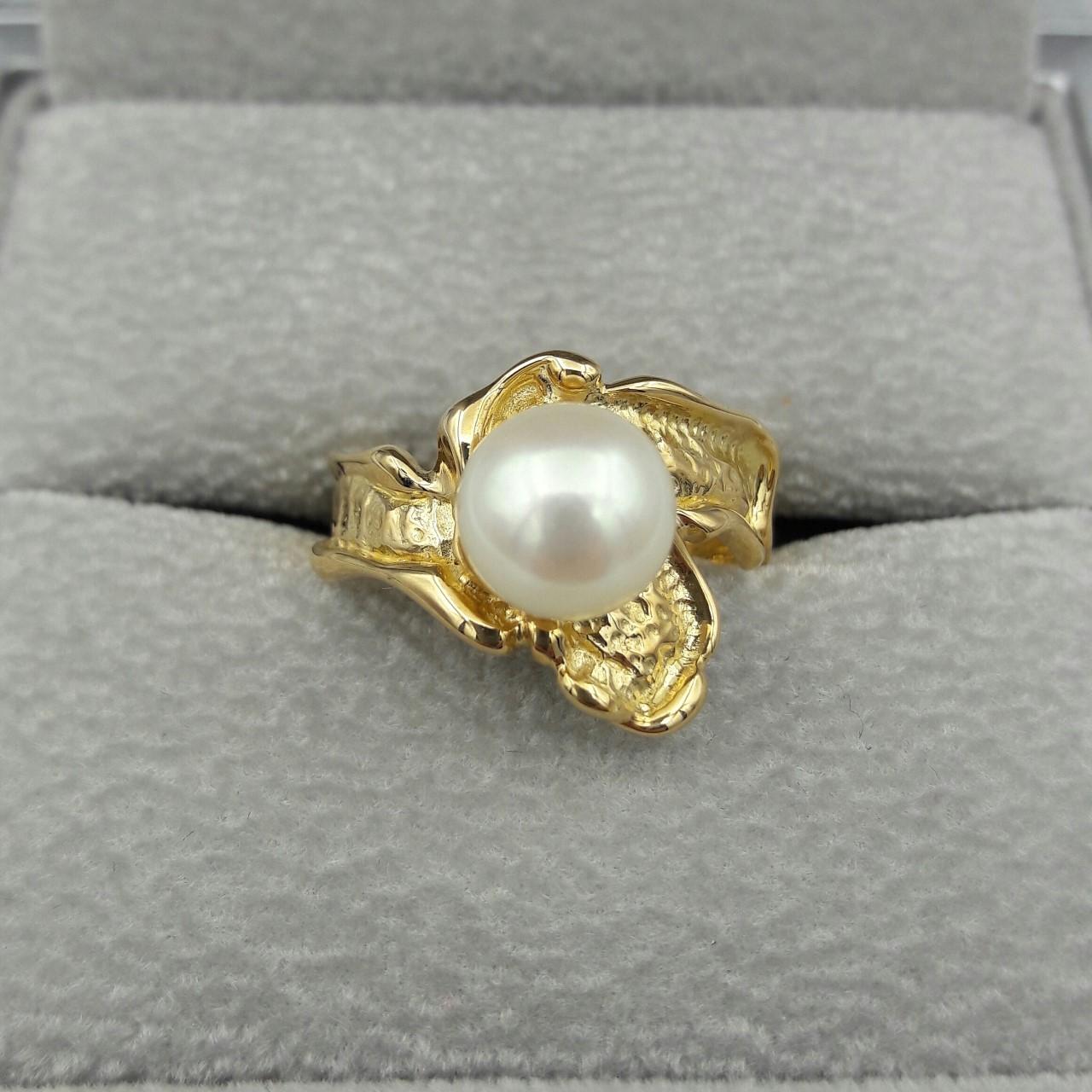 Bague or perle