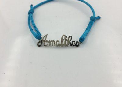 Bracelet cordon prénom découpé