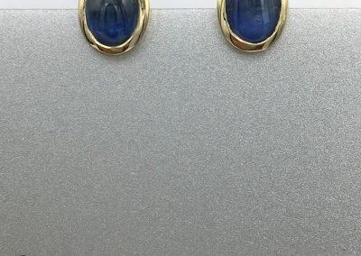 Boucles d'oreille or saphir