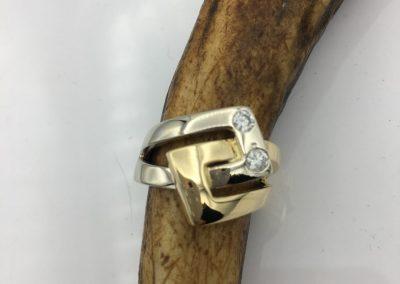 Bague 2 ors diamants