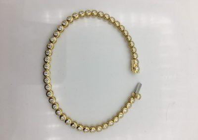 Bracelet or et diamants