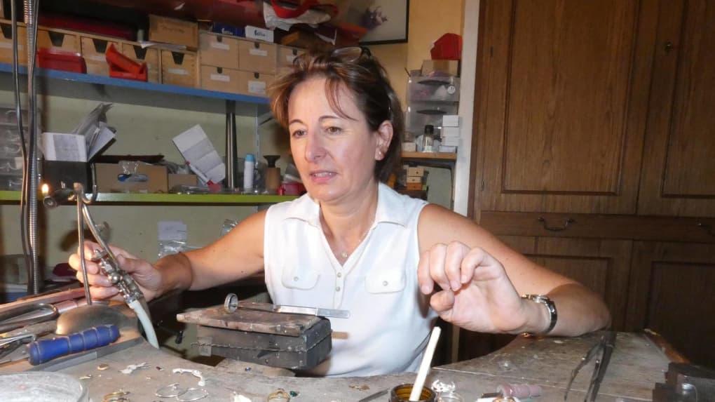 Denise Billon, joaillière. Photo NR
