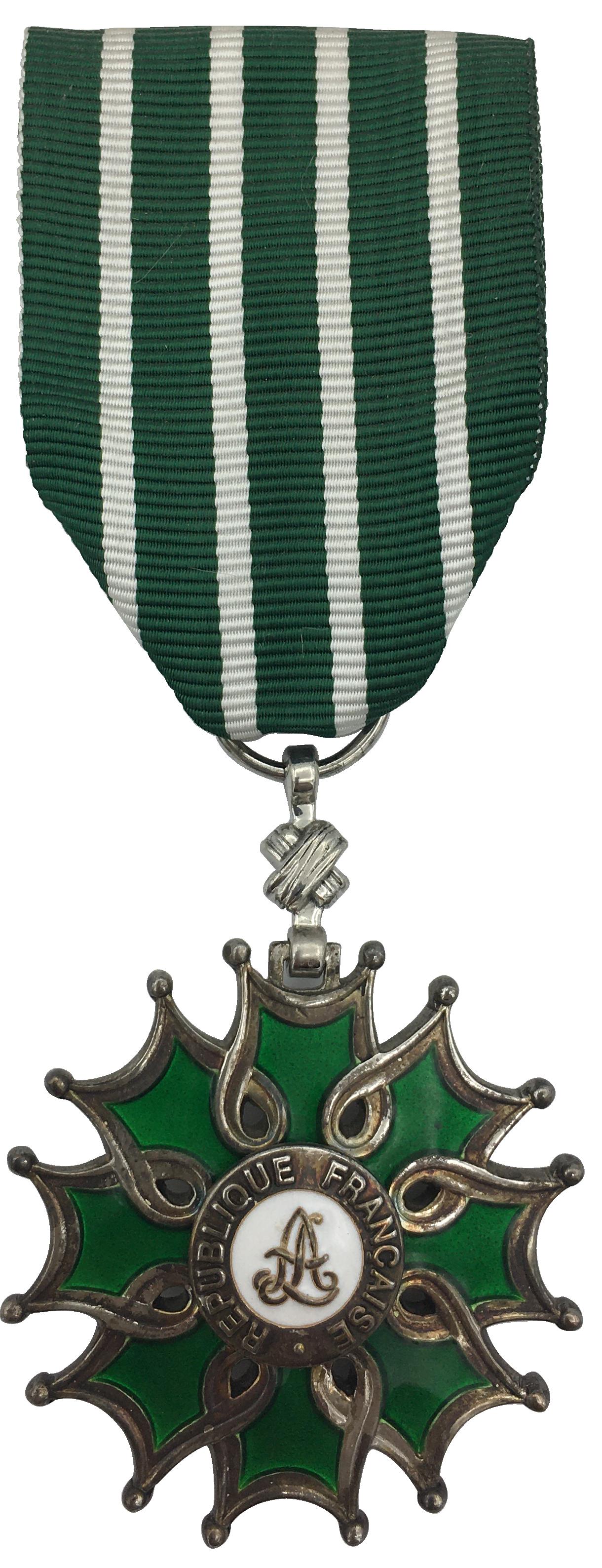 Médaille Chevalier de l'ordre des Arts et des Lettres